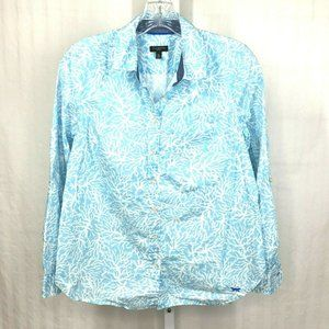 Talbots Long Sleeve button front Blouse size MP